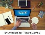 contact us  customer support... | Shutterstock . vector #459523951