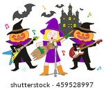 people who disguise itself by... | Shutterstock .eps vector #459528997