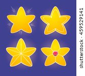cartoon yellow glossy stars on...
