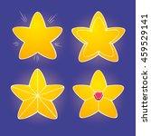cartoon yellow glossy stars on...