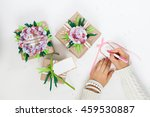 gifts in colorful festive... | Shutterstock . vector #459530887