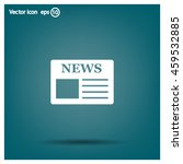 flat icon of news   Shutterstock .eps vector #459532885