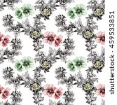 watercolor seamless pattern... | Shutterstock . vector #459533851