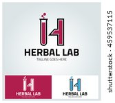 herbal lab logo design element  ... | Shutterstock .eps vector #459537115