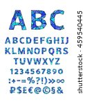 english alphabet. vector... | Shutterstock .eps vector #459540445
