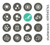 set of icons molecule theme... | Shutterstock .eps vector #459545761
