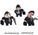 businessman cartoon | Shutterstock .eps vector #45955225