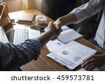 business handshake and business ... | Shutterstock . vector #459573781