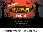 happy halloween message design... | Shutterstock .eps vector #459580561