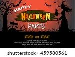 happy halloween message design... | Shutterstock .eps vector #459580561