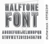 vector halftone alphabet ...   Shutterstock .eps vector #459582349