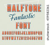 vector halftone alphabet ... | Shutterstock .eps vector #459582361