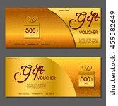 gift voucher. vector ... | Shutterstock .eps vector #459582649