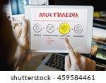 internet multimedia technology... | Shutterstock . vector #459584461