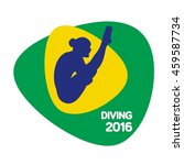 diving icon  sport icon  vector ... | Shutterstock .eps vector #459587734