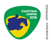 equestrian jumping icon  vector ... | Shutterstock .eps vector #459590431