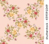 seamless floral pattern with... | Shutterstock .eps vector #459591049