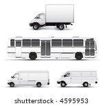 city transport bus truck car... | Shutterstock . vector #4595953