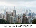 victoria peak  hongkong   july... | Shutterstock . vector #459605119