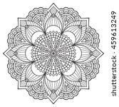 flower mandala. vintage... | Shutterstock .eps vector #459613249