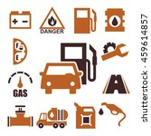 gas station icon set   Shutterstock .eps vector #459614857