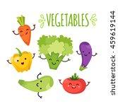 healty food cartoon representing | Shutterstock .eps vector #459619144
