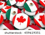 canada and mexico badges... | Shutterstock . vector #459619351