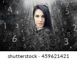 woman's face  magic of figures  ... | Shutterstock . vector #459621421