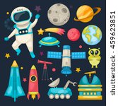 space colored and isolated icon ... | Shutterstock .eps vector #459623851