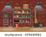 interior of storeroom with... | Shutterstock .eps vector #459640981