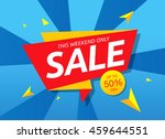 big sale banner  poster. sale... | Shutterstock .eps vector #459644551