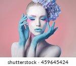 creative fashion beauty... | Shutterstock . vector #459645424