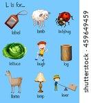 different words begin with...   Shutterstock .eps vector #459649459