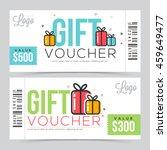 creative modern gift voucher ... | Shutterstock .eps vector #459649477