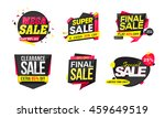 set of creative stickers  tags... | Shutterstock .eps vector #459649519