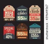 set of six creative sale or... | Shutterstock .eps vector #459649567