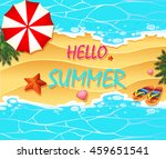 summer holiday on the beach... | Shutterstock .eps vector #459651541