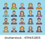 avatar icons 1 | Shutterstock .eps vector #459651805