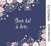 Wedding Invitation Navy Blue...