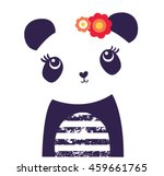 panda bear vector.animal... | Shutterstock .eps vector #459661765
