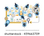 vector business ideas using...   Shutterstock .eps vector #459663709