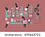 vector business ideas using...   Shutterstock .eps vector #459663721