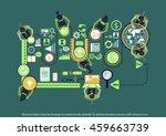 vector business ideas using...   Shutterstock .eps vector #459663739