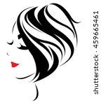 women short hair style icon ... | Shutterstock .eps vector #459665461