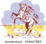 vintage wild west line drawing... | Shutterstock .eps vector #459667885
