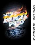rock party poster design mock...   Shutterstock .eps vector #459670201