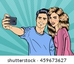 young loving couple making... | Shutterstock .eps vector #459673627