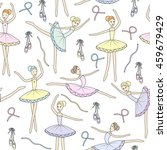 seamless pattern with dancing... | Shutterstock . vector #459679429