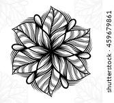 mandala. round ornament pattern. | Shutterstock .eps vector #459679861