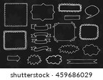 set of vector hand drawn frames.... | Shutterstock .eps vector #459686029
